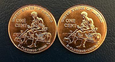 Bu ~ 2009 P & D Lincoln ~ Formative Years Cent / Penny Set (2 Coins)