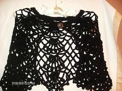 Hand made crochet capelet for size small
