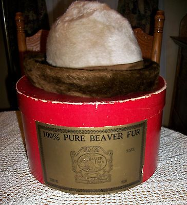 Vintage Hat Box with Winter Hat
