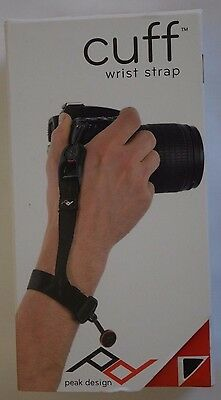 Brand New Peak Design Cuff Camera Hand Wrist Strap Grip Black Quick Release CF-2