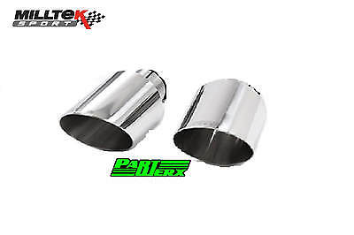 "Ford Focus MK3 RS 2.3 MILLTEK Sport 4.5"" Tailpipe Trim Dual GT115 Exhaust Tips"