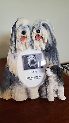 Bearded Collie Dog Picture Frame New In Box Puppy