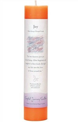 "Joy - Handmade Herbal Magic Reiki Charged 7"" Ritual Spell Pillar Candle"