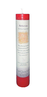 "Seduction - Handmade Herbal Magic Reiki Charged 7"" Ritual Spell Pillar Candle"