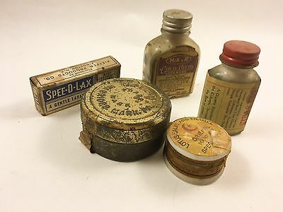 Lot of 5 Advertising Boxes Antique Vintage Memorabilia  Medicine First Aid Tins