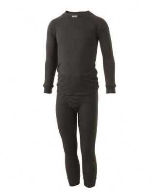 (Age 5-6) - Five seasons SuperKids Thermals Set Black. Shipping is Free