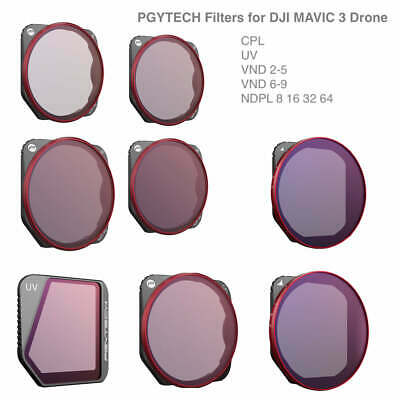 PGY TECH DJI Mavic Pro Platinum Lens Filter CPL UV ND4 ND8 16 32 64 Accessories