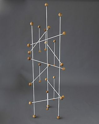French Mid Century Modern Atomic Coat Rack Roger Feraud Eames Style Vintage