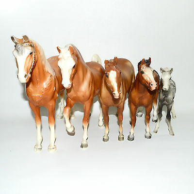 BREYER MODEL HORSE Lot Traditional Vintage 1970s Foal Yearling Stallion Western