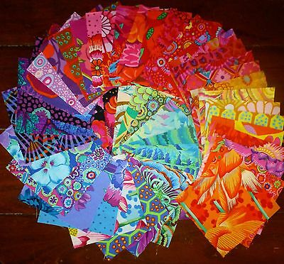 45 Kaffe Fassett Mixed Quilting Patchwork Cotton Fabric 5 inch Squares #88b