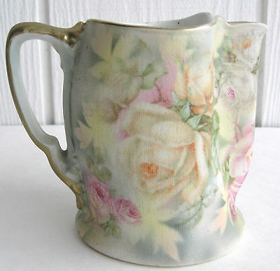 Royal Bayreuth Rose Tapestry Porcelain Creamer Cream Pitcher Pinch Spout Gobelin