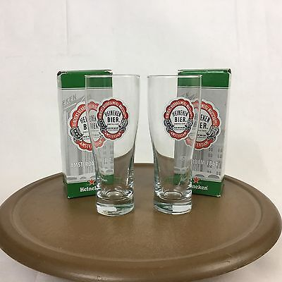 Set of 2 Heineken Experience Amsterdam Limited Edition Souvenir Beer Glass w Box