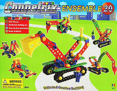Kids Construction Toys Connetrix Building Ensemble 260 Piece FREE Post From NSW