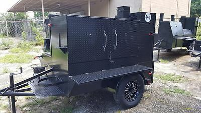 Pro BBQ Smoker Grill Trailer Food Truck Mobile Catering Street Vendor Concession