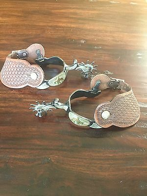 10 point Western Riding Spurs with Leather Straps Korea
