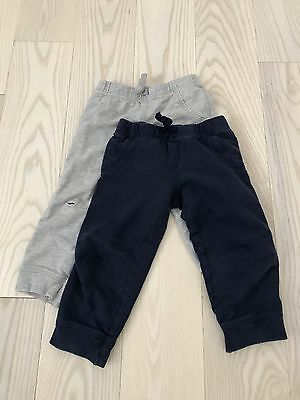 LOT OF 2 - Carter's Baby Toddler Boys Terry Cloth Joggers Pants 24 Months