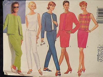 Lovely//Easy OOP BUTTERICK 6109 MS Color Block Dress PATTERN 6-8-10//18-20-22 UC