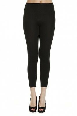 Black Warm Thick Full Thermal Leggings - UK Size 6. Shipping is Free