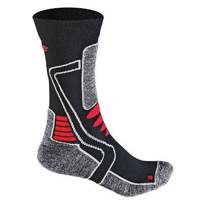 (35-38 / 3-5) - F-Lite Women's Motorcycling Mid Socks - Black/Red. Delivery is F