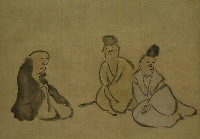 Hanging Scroll Japanese Painting Antique Asian Art Japan Old Picture Paint a011
