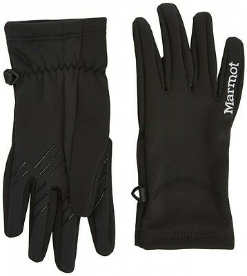 (Large, Black) - Marmot Women's Connect Softshell Glove. Delivery is Free