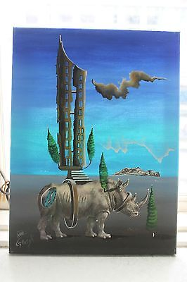 5 Larger Original Surrealist Paintings By Dali Scholar Helmuth Gerigk
