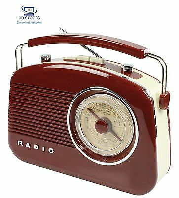 König HAV TR710BR Portable Analogique Marron Radio portable Radios portables...