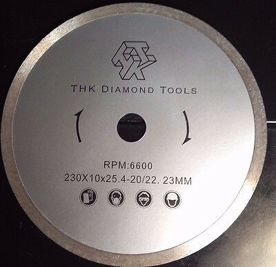 "9"" x 1""- 1.9 mm thick Sintered Diamond Tile Rock Saw Blade 6600 rpm"