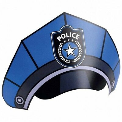 (party hats) - Kids Birthday hat accessories Officer 6 party hats Police party