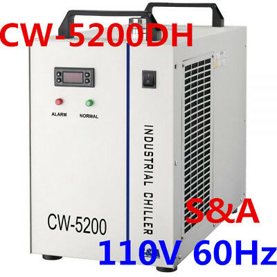 110V 60Hz S&A CW-5200DH Industrial Water Chiller for Spindle / Laser Tube