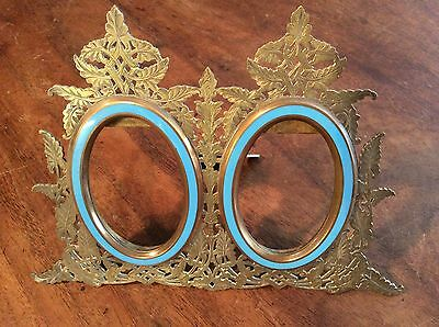 19th century brass and enemel photograph / picture frame