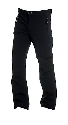 (140, Black) - F.lli Campangolo Children's Softshell Trousers. Delivery is Free