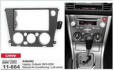 CARAV 11-664 2-DIN Car Dash Kit SUBARU Legacy, Outback 2003-2009 Manual A/C LW