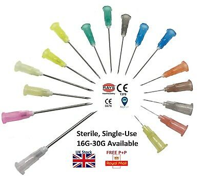 RAYS™ Sterile Hypodermic Needles - Medical Clinical Various Gauge Sizes UK CE