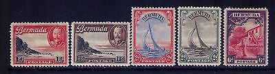 Bermuda Stamps,KEVII Sc # 106//12 Selection ,MH,Cat.$59