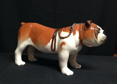 Large Lomonosov Porcelain Figurine of a ENGLISH BULLDOG  NEW