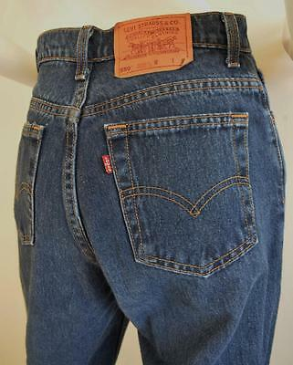 """Vintage levis jeans 550 womens 6 / 27"""" high waisted, mom jeans, 90s dark wash"""