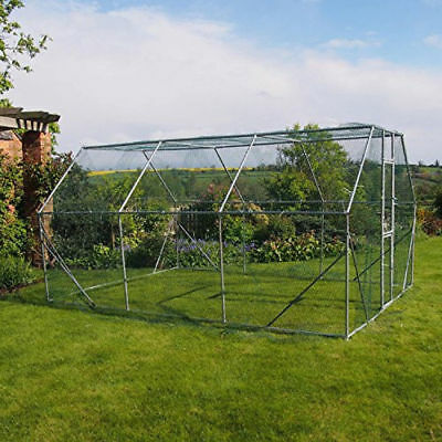 Dog Exercise Pen Run Walk In Kennel Galvanised Cage 4 x 3 x 2m Easy To Assemble