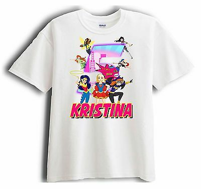 New Personalized DC Super Hero Girls Birthday T Shirt Party Favor