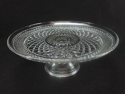 """Wexford 12"""" Cake Stand Pedestal Plate Salver Anchor Hocking Footed"""