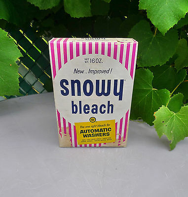 Vintage 1961 Full Unopened Snowy Powdered Bleach Powder Box Gold Seal Co Laundry