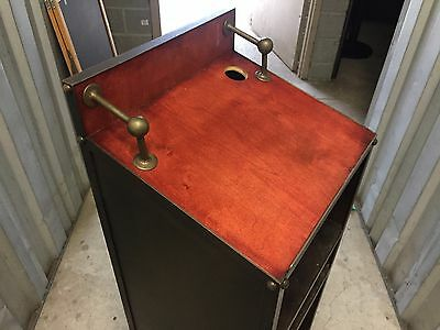 Vintage Industrial Hostess Stand / Restaurant POS Cart / Lecturn / Pod