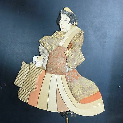 Vintage Japanese Dolls Or Puppets On A Stick