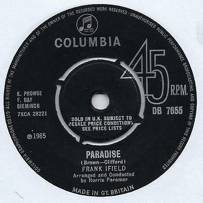 "Frank Ifield - Paradise - 7"" Single"