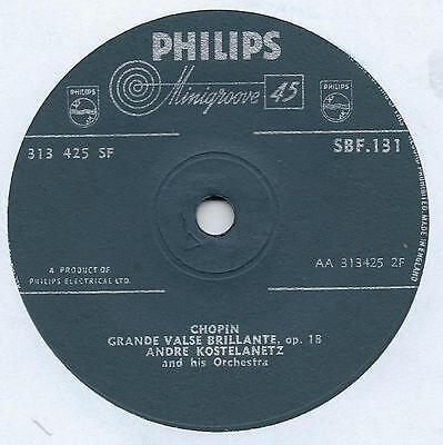 "Andre Kostelanetz - Chopin Grande Valse Brillante - 7"" Single"