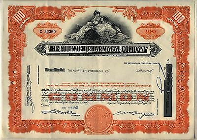 Norwich Pharmacal Stock Certificate