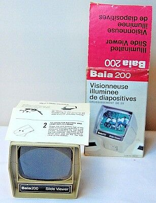 VINTAGE Baia 200 Illuminated 35mm 2 x 2 Slide Viewer Battery Operated