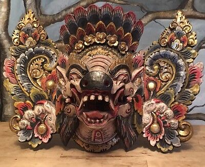 Oma- Barong Mask Protector Mask Wall Hanging Gatekeeper Against Evil.