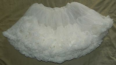Vintage Square Dancing Dance Full Womans Size Small Slip Petticoat Solid White