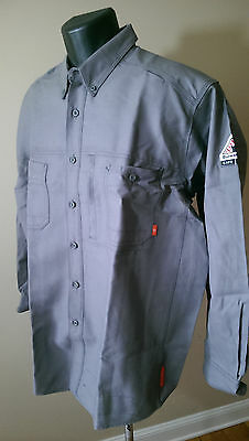 Mens Bulwark FR Arc Rated Work Shirt - Gray - Size XL - 9.0 ATPV - IQ Series